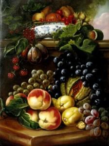 Gyümölcsök másolat 30x40 vászon, olaj