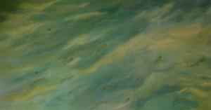 Sodrásban 74x137 vászon, olaj